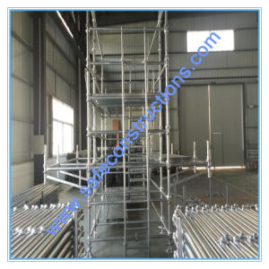 Safe Ce Qualified Steel Cuplock Scaffolding for Construction. pictures & photos