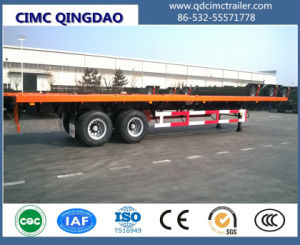 Flat Bed Semitrailer with Bogie Suspention pictures & photos