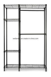 Customized New Style Garment Wire Shelving Design Carbon Steel Clothing Hanging Rack Metal Wardrobe pictures & photos