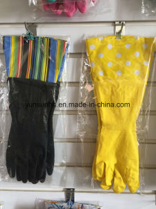 Cleaning Rubber Gloves with Cuff pictures & photos