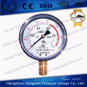 1MPa Vibration Proof Pressure Gauge with Dual Scale pictures & photos