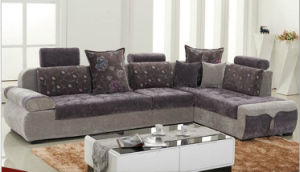 Fabric L-Shape Wooden Frame Living Room Sofa (HX-SL023) pictures & photos