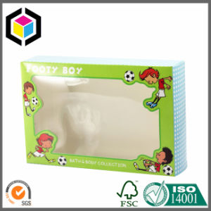 Metallic Paper Clear PVC Window Cosmetic Paper Packaging Box pictures & photos