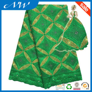 Wholesale New African Swiss Lace with Stones pictures & photos