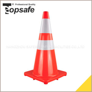 70cm Height Soft PVC Parking Cones for Sale (S-1232) pictures & photos