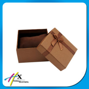 Customized Cardboard Jewelry Gift Box with Velvet Pillow pictures & photos