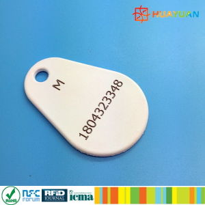 High Temperature nylon Overmoulded reliable Em4200 TK4100 RFID Key fobs keychain pictures & photos