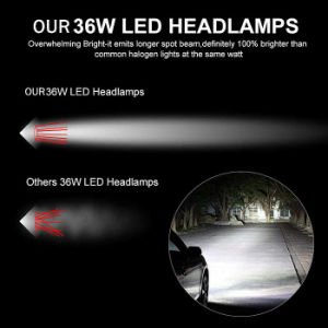2017 Hot Sell 36W 3800lm C6 COB LED Headlight 9005 Auto LED Headlight for Cars Motorcycle pictures & photos