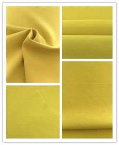 50d Cationic Twill Polyester Melange Spandex Two Ways Stretch Fabric