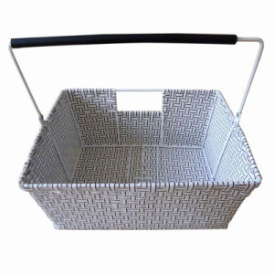 Plastic Rattan Bike Basket with Handlebar (HBK-121) pictures & photos