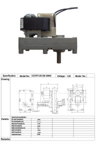 AC Single Phase Geared Motor for BBQ pictures & photos