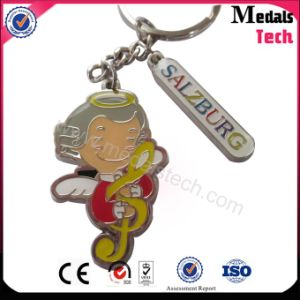 Soft Enamel Angle Music Logo Metal Keychain with Epoxy pictures & photos