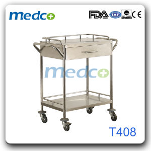 Stainless Steel Hospital Surgical Emergency Instrument Trolley pictures & photos