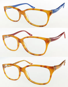 High Quality Acetate Optical Frame with Double Color for Woman pictures & photos