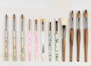 High Quality Mink Hair Nail Makeup Brush Set pictures & photos