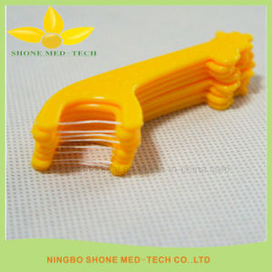 Oral Care Disposable Dental Floss Stick pictures & photos