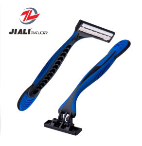 Triple Blade Disposable Razor for Sensitive Skin pictures & photos