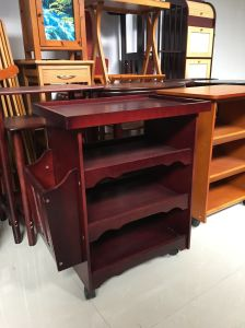 Wooden Furniture Sofa Side Table with Magazine Shelf pictures & photos