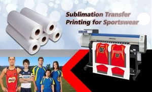 "90GSM High Quality Non-Curl Fast Dry Sublimation Heat Transfer Paper 36"" Chinese Manufacturer for Textile pictures & photos"