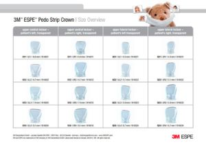 3m Espe Pediatric Strip Crown Forms Set, Anterior pictures & photos