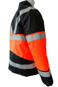 Good Quality Orange Reflective Polyester Taffeta Winter Jacket Short Coverall Work Cloth Workwear Apparel pictures & photos