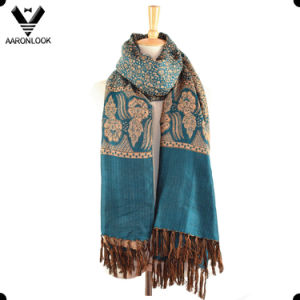 Polyester Cotton Blended Ethnic Style Pashmina Scarf Shawl pictures & photos