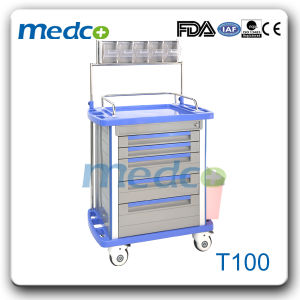 Hospital Treatment Cart, Steel Nursing Medicine Trolley for Medical Use pictures & photos