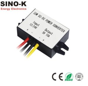 Waterproof DC-DC 12V/24V to 5V 10A 50W Buck Power Converter pictures & photos