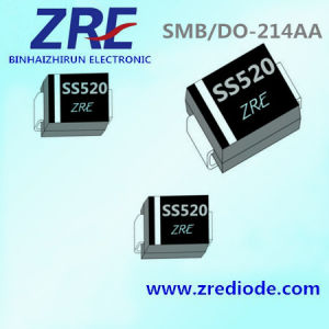 5A Schottky Barrier Rectifier Diode Ss52 Thru Ss520 SMB-Do/214AA Package pictures & photos