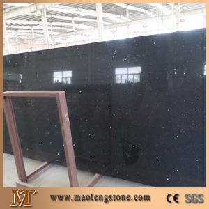 Crystal Black Artificial Quartz Slab pictures & photos