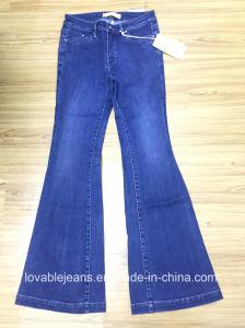 9.8oz Black Denim Jeans (HYQ97-07GDT) pictures & photos