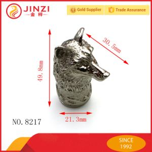 Hot Sale Metal Silver Fox Heads Quality Crafts pictures & photos
