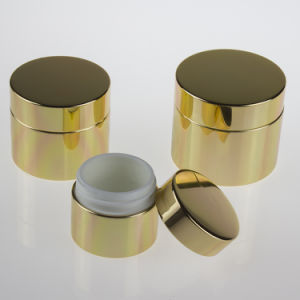 Gold Color Aluminum Glass Jar pictures & photos