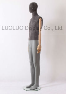Hot Sale Linen Wrapped Male Mannequin with Wooden Arms pictures & photos