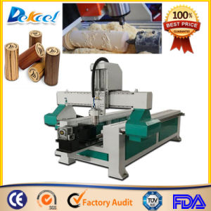 Rotary Device Cylinder Wood Carving Machine Dek-1224 Small CNC Router pictures & photos