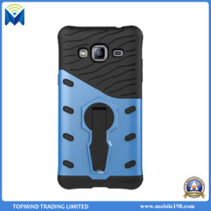 Sniper Hybrid Armor Dual Layer TPU Gel PC Shell Kickstand Case Cover for Samsung Galaxy J3 2017 J5 J7 S6 S7 Edge pictures & photos