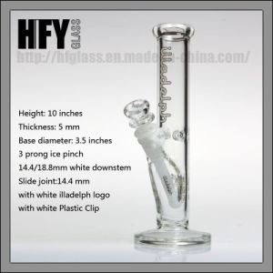 Hfy Glass Hot Sales Illdelph 10 Inches Straight Tube Smoking Water Pipe Hookah Heady Wholesaler Factory pictures & photos
