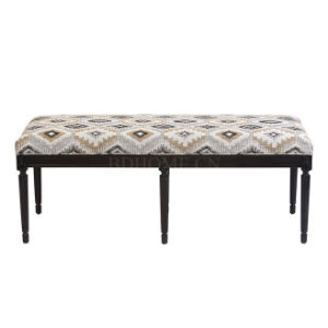 French Baroque Style Bed Foot Bench Menmory Foam Cushioned Bed End Stools pictures & photos
