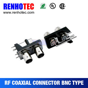 BNC Right Angle Female Coaxial Connector with Black Housing pictures & photos