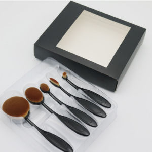 5 PCS Oval Makeup Brush Set Cosmetic Supplies Tools # 1 Black Brush pictures & photos