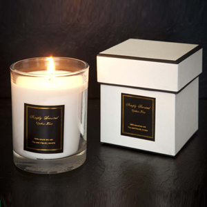 Home Decor Scented Glass Candle