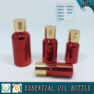 Deep Red Electroplated Glass Essential Oil Bottles pictures & photos