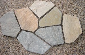 Mosaic Slate, Slate Flagstone, Slate on Mesh for Outdoor pictures & photos