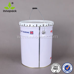 5 Gallon Tin Bucket with Flower Lid 20 Liter Paint Metal Bucket pictures & photos