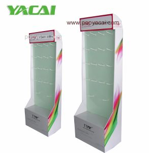 iPhone Accessories Cardboard Floor Display with Hooks, Cmyk Offset Printed Cardboard Display Stand pictures & photos