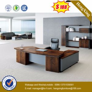 Side Extension Table Attached Walnut Melamine Office Desk (HX 5DE210)