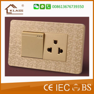 Modern Style Mosaic Color Electric Switch Socket for Home pictures & photos