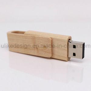 Unique Swivel Wooden USB Flash Drive (UL-W006) pictures & photos