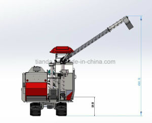 Combine Harvester of Yanmar Type for Harvest Paddy with Full-Feeding Harvesting pictures & photos