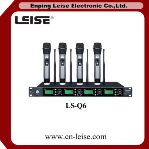 Ls-Q6 Four Channels Digital Audio UHF Wireless Microphone